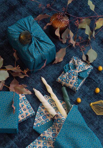 Nachhaltiges Geschenkpapier FabRap Art Deco & Ocean