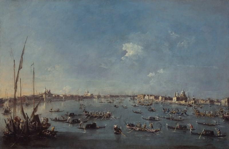 Francesco Guardi (1712-1793), Regatta auf dem Canale della Giudecca, um 1784/89