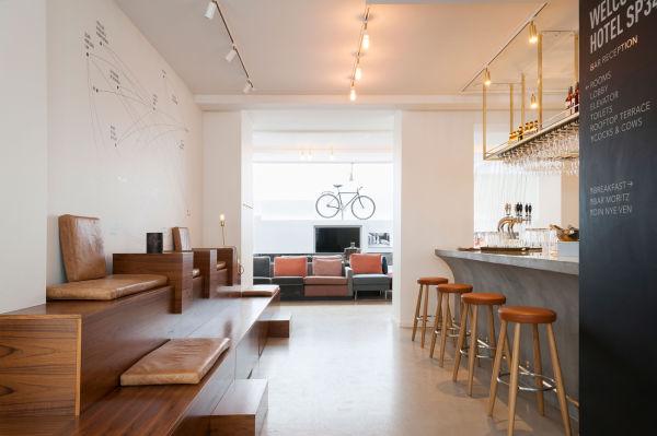 Das Fahrrad von Sögreni Bikes in der Lobby des SP34.