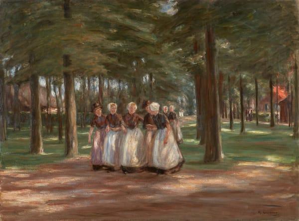 """Die nächste Kunstkammer-Folge erscheint nach der Sommerpause am 24. September 2020. Folge 43: Mehr Licht! – """"Kirchgang in Laren"""", Gemälde von Max Liebermann, 1898"""