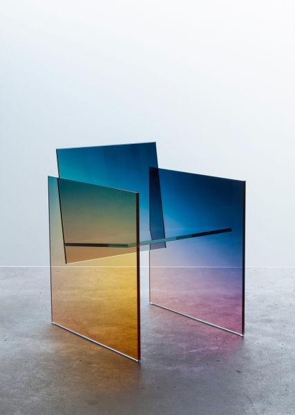 """<p>Hommage an Shiro Kuramata und Blickfang bei Rossana Orlandi:Germans Ermičs""""Ombré Glass Chair"""", 0700 Euro über <a href=""""http://germansermics.com."""" target=""""_blank"""">germansermics.com.</a></p>"""