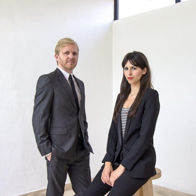 Porträt der Architekten Christoph Zeller und Ingrid Moye
