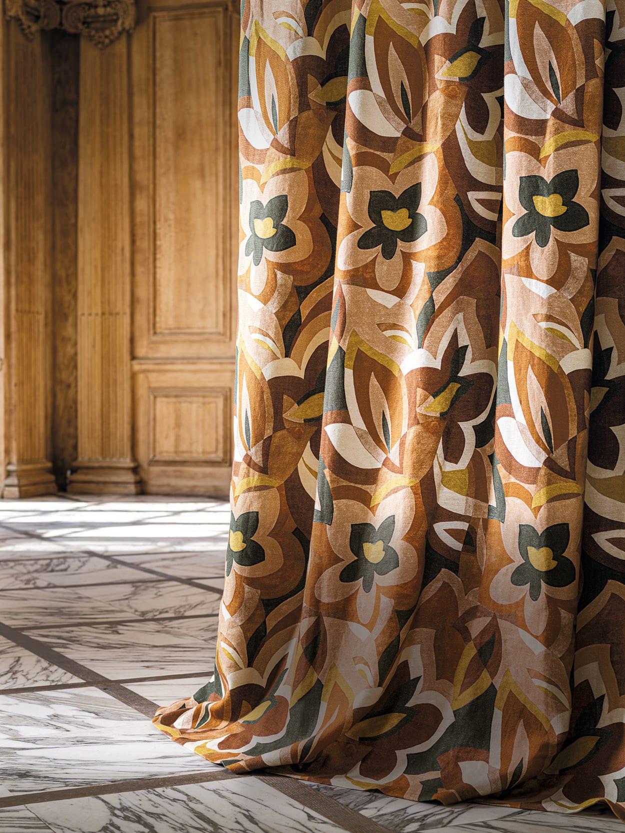 Vorhang aus Stoff