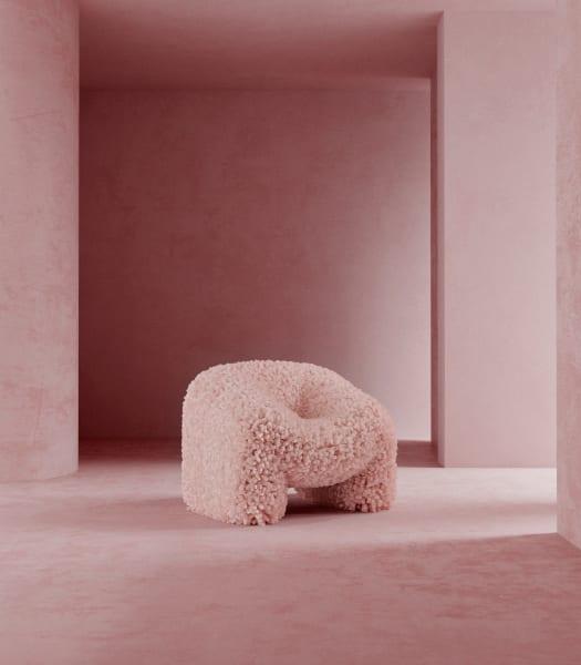 """""""Hortensia"""" von Andrés Reisinger, war zuerst nur ein 3D-Rendering. Mittlerweile kann man den Stuhl auch auf Anfrage bestellen."""