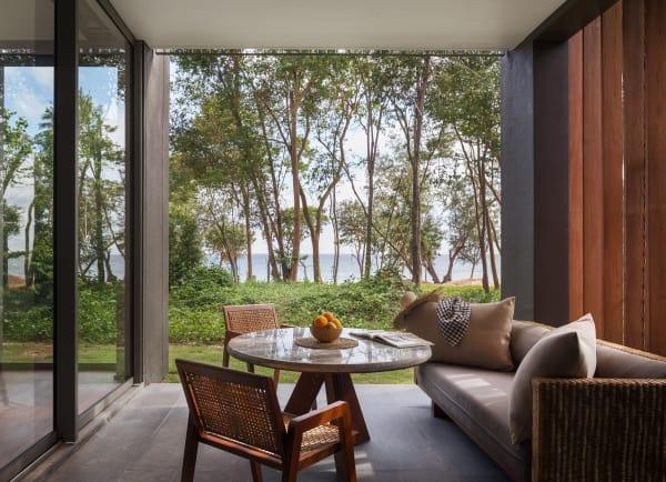 Für das Designkonzept des Resorts griff der Architekt die geometrischen Formen des traditionellen Tuchs Krama auf.