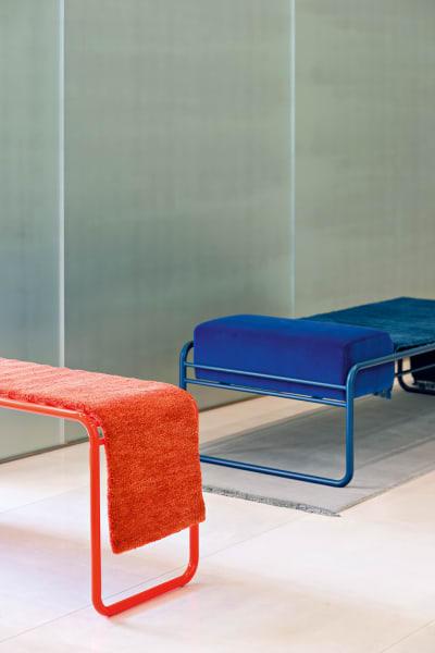 """Letztes Jahr präsentierte Greiling auf dem Salone del Mobile das Projekt        """"Structures"""" mit Kinnasand und Kvadrat."""