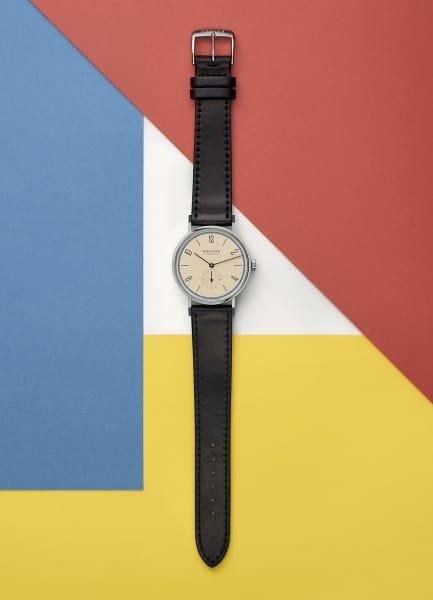 """Inspiriert von Skizzen Paul Klees und der ikonisch flächigen Farbwelt des Bauhauses, verneigt sich die """"Tangente"""""""