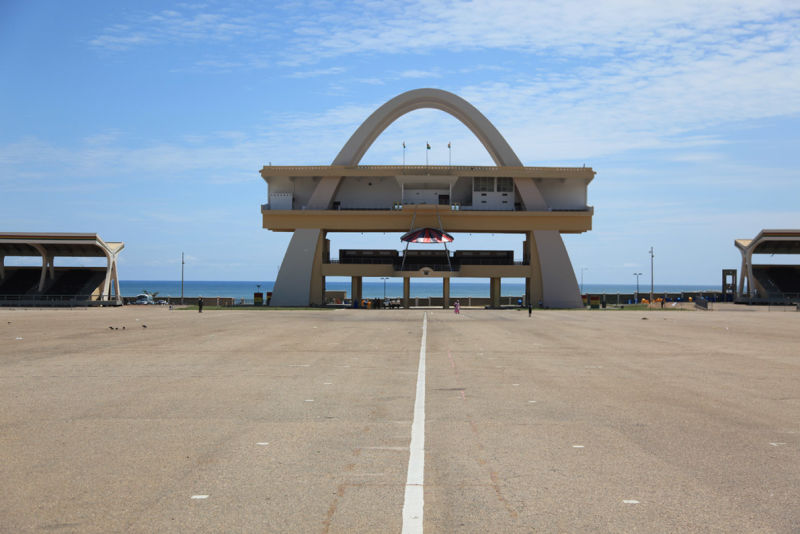 Independence Arch, Accra (Ghana) by the Public Works Departments, 1961.