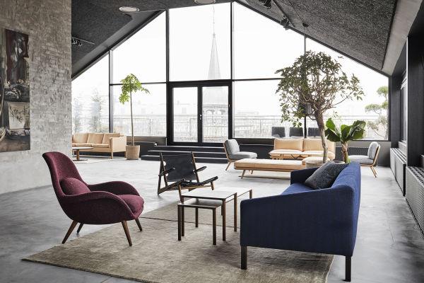 Der neue Showroom von Frederica mit Blick über Kopenhagen.