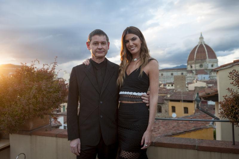 Cartier 7 Cartier-CEO Cyrille Vigneron mit Bianca Brandolini.