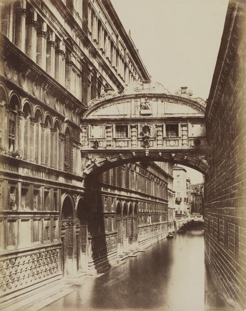 Giuseppe Cimetta, Seufzerbrücke, um 1850/53