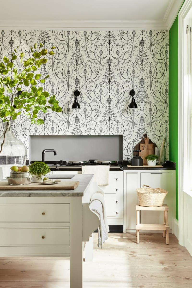 Küche mit Tapente von Little Greene Marlborough Glace.jpg