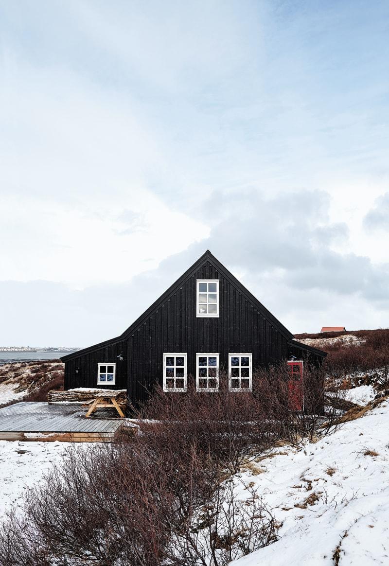 Island Hafnarskógur Holzhaus