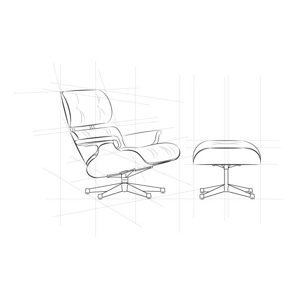 Der ikonische Lounge Chair von Charles und Ray Eames.
