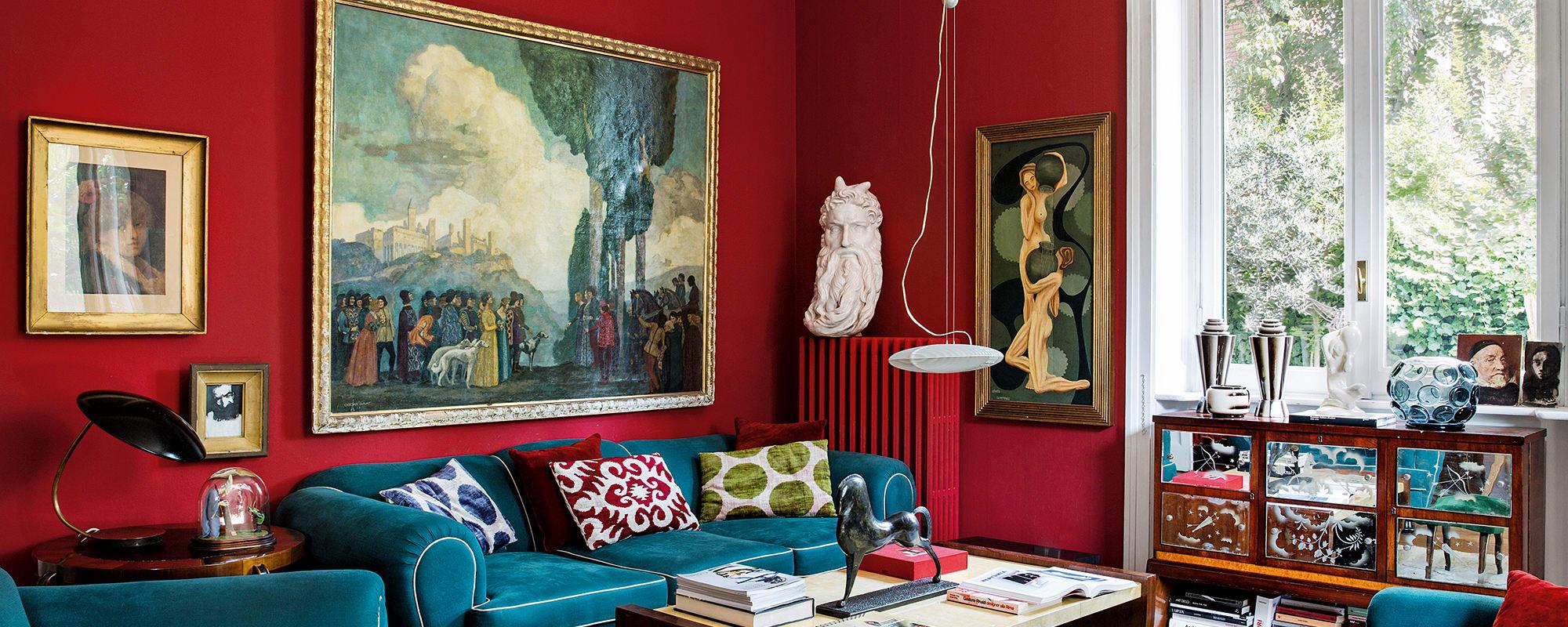 oskar graf gemälde, guillermo ulrich sofa, Luca Vitali Apartment