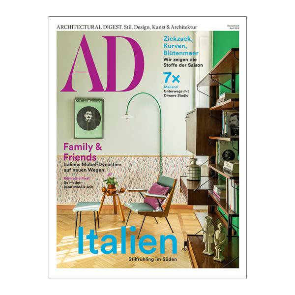 AD Architectural Digest erscheint seit April 2018 weltweit mit neuer Coveroptik.