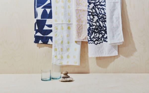 Workof setzt auf Prints auf Leinen und Baumwolle, ab 18 Euro.