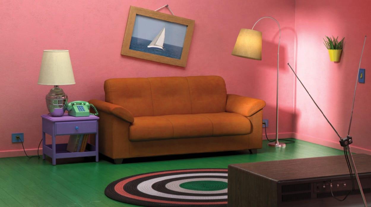 IKEA, Sofa, Wohnzimmer, Simpsons, Fernseher