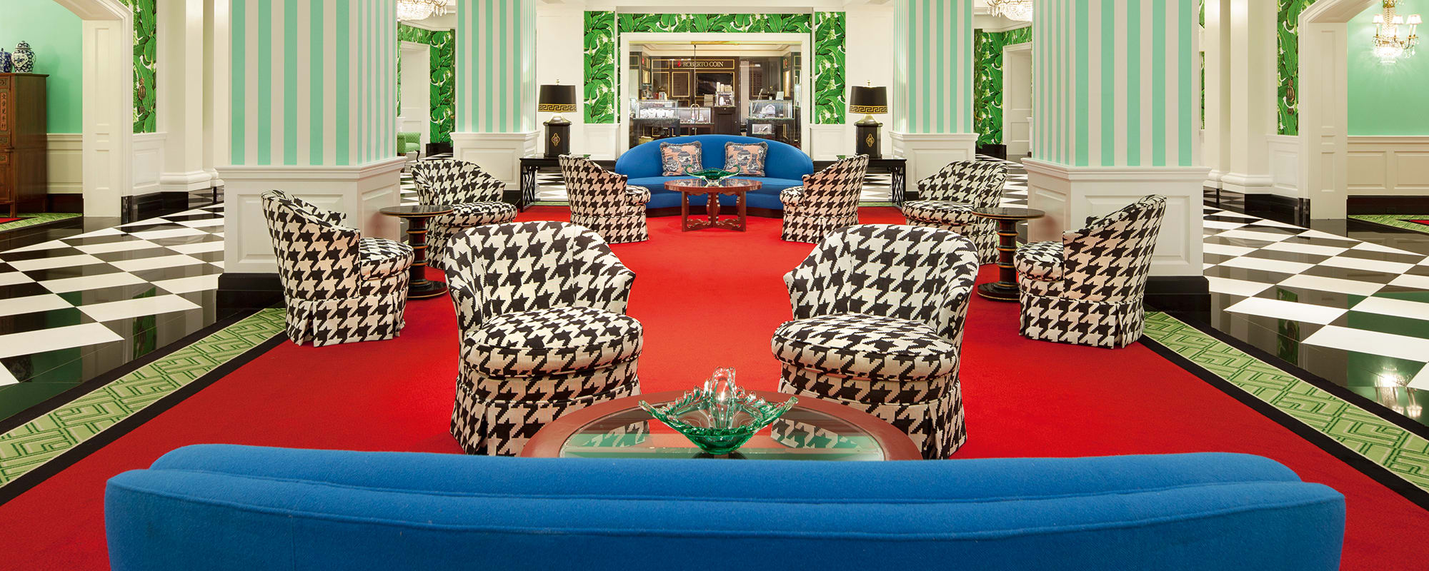 The Greenbrier, Hotel, Boutique USA, Dorothy Draper, Interior Design, Sessel, Couch