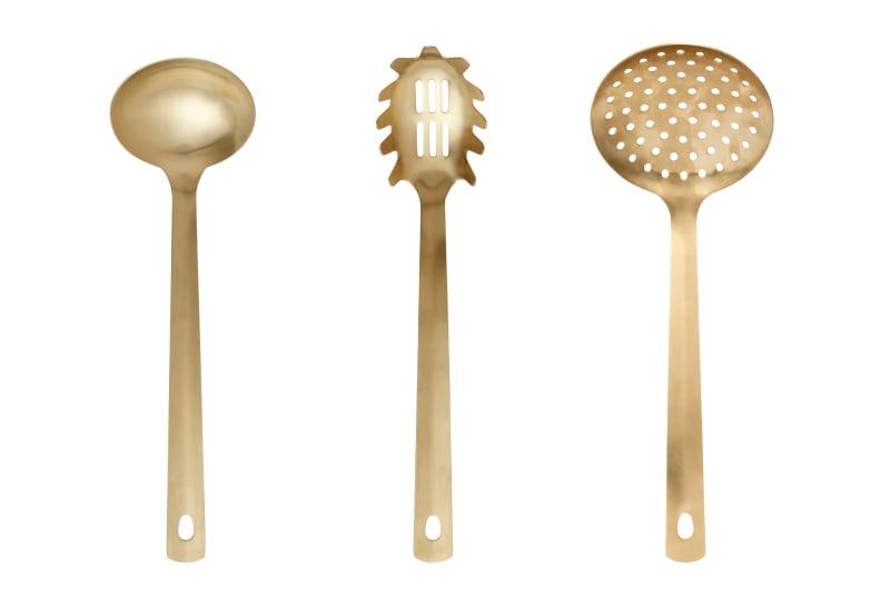 """Küchenuntensilien """"Goldies"""" von Nordal"""