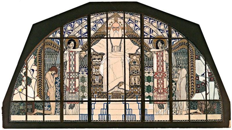 Kolman Moser, Entwurf Kirchenfenster