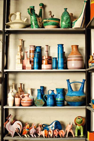 Keramiken von Bruno Gambone, aus dem Jahre 1970–85, aus glasierter Keramik, Preis auf Anfrage.