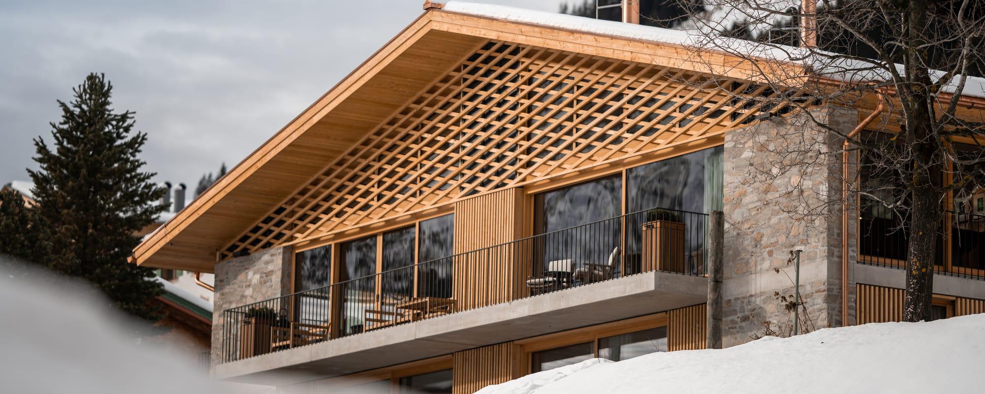 Außenansicht des Arla Luxury Home in Lech.
