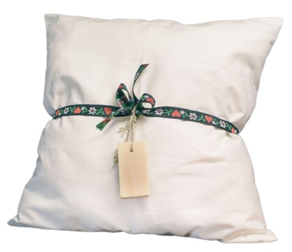 Die schlaffördernde und entspannende Wirkung der Zirbe ist legendär. Sie soll sogar dem Mutlosen wieder Kraft und Energie schenken. Tagträumerei? Tatsache ist, dass mich ein Zirben-Kopfkissen mit einem wohligen Seufzer in den Schlaf sinken lässt. Mein Favorit ist die Mischung halb Zirbe, halb Schafwolle.