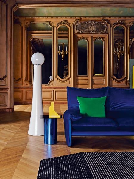 Sofa in Aquablau