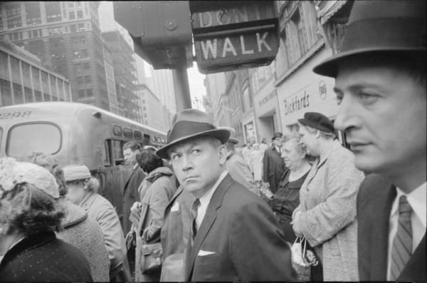 Garry Winogrand (American, 1928–1984) New York ca.1962 Gelatin silver print Garry Winogrand Archive, Center for Creative Photography, University of Arizona