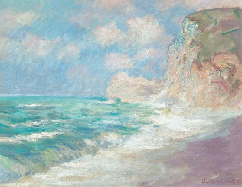 """Claude Monet, """"Falaise et Porte d'Amont par Gros Temps"""""""