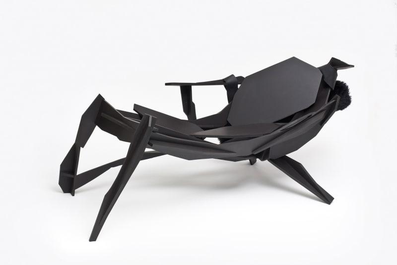 Sculptural lounge chair