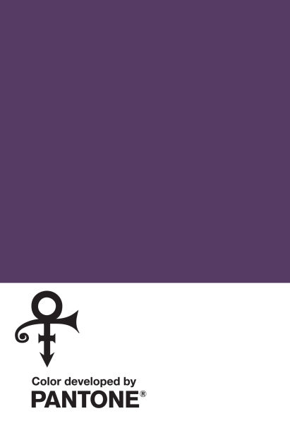 """Purple Pantone! Der eigens für Prince geschaffene Farbton """"Love Symbol #2""""."""