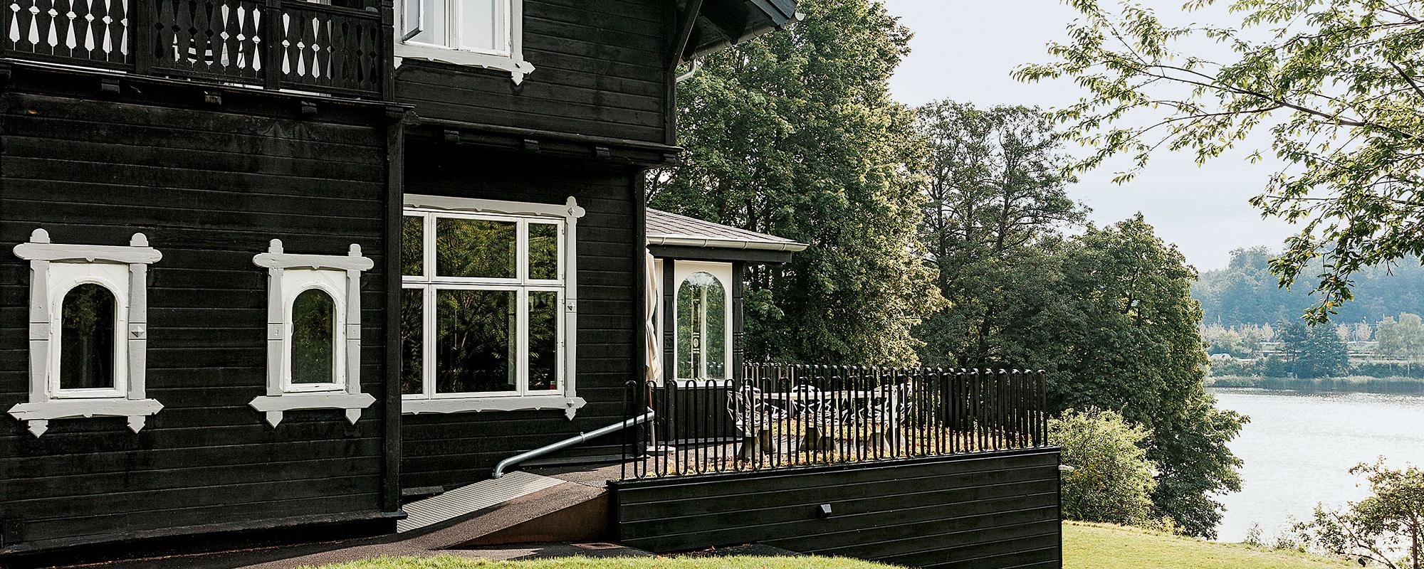 Haus, Holz, Schwarz, Seeland, Norwegen, Dänemark