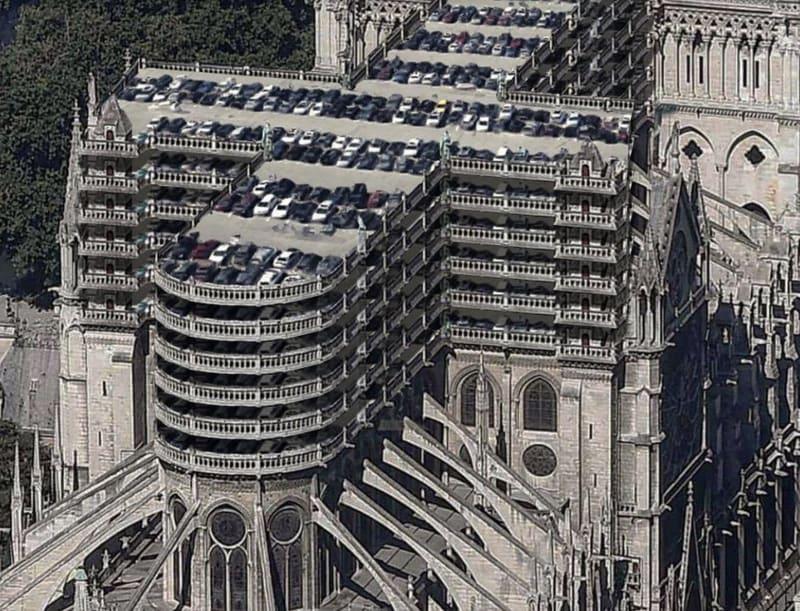 Notre Dame als Parkhaus