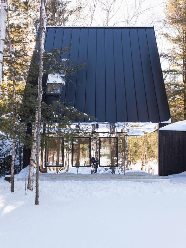 Top 10 Mirror Houses - Ad Glas Fassade Spiegelfassade Baumhaus