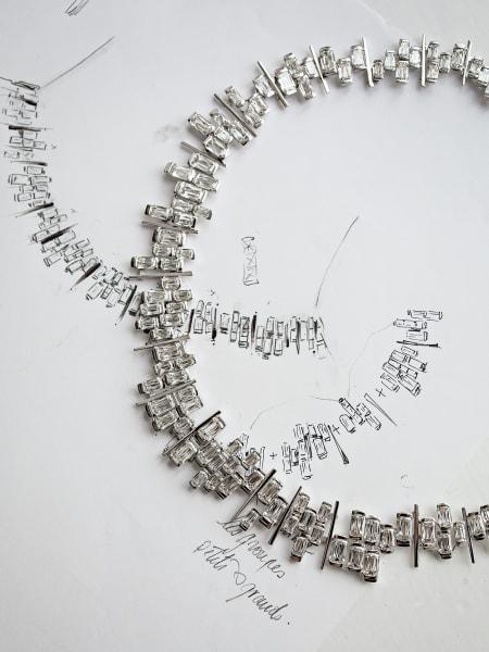 """Das Herzstück der """"Ashoka""""-Linie von Wempe ist Catherine Plouchards Weißgoldcollier mit 146 Diamanten,ab 468000 Euro."""
