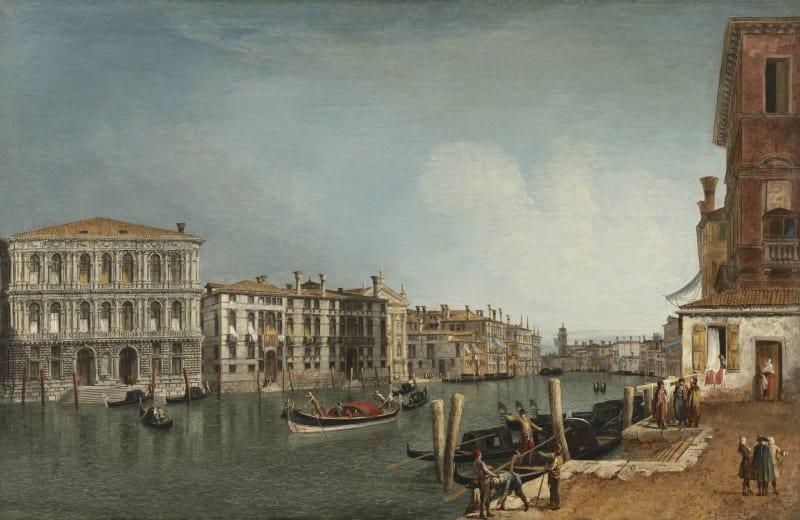 Michele Marieschi (1710-1743), Der Canal Grande bei Ca' Pesaro, um 1734/35