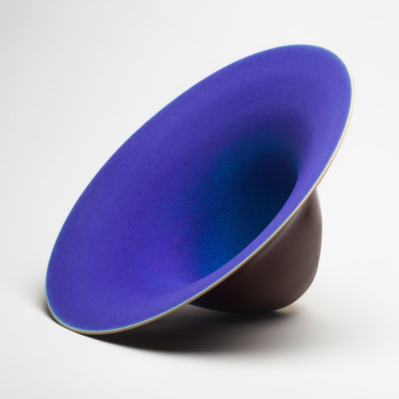 Antonino-SPOTO,-Brown-and-blue-vessel,-2014.-Represented-at-COLLECT-by-WCC-BF