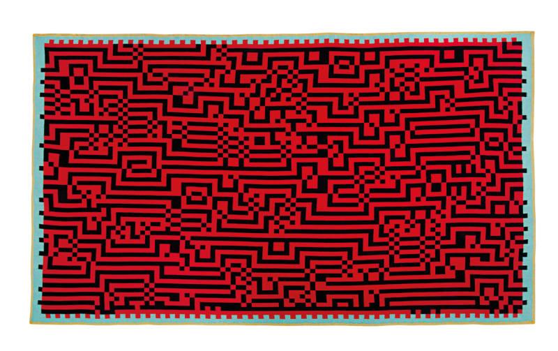 """Plaid """"Barcelona 1"""" aus Merinowolle von Zuzunaga, 288 Euro."""