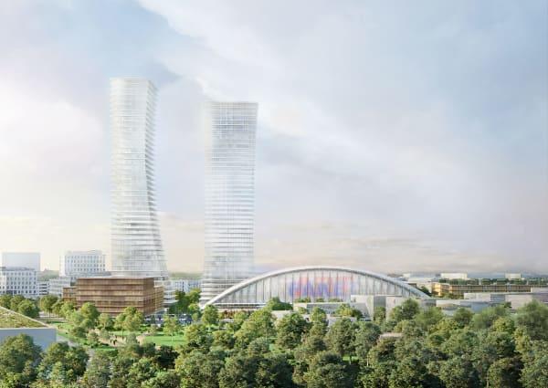 Die zwei vorgeschlagenen Hochhäuser mit je 155 Metern liegen weit über der in München bislang festgelegten Maximalhöhe von 100 Metern.