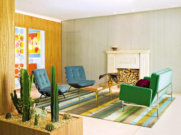 Zeitlose Paare: In einem Apartment in Miami kombiniert Interiordesigner Doug Meyer Midcentury-Style mit urtypisch geformten Kakteen.