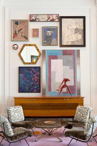 """Zu Besuch bei der älteren Dame: In der Lobby des """"Proper Hotel"""" kombinierte Designerin Kelly Wearstler Muster, Texturen und Kunstwie im Haus einer kultivierten Lady."""