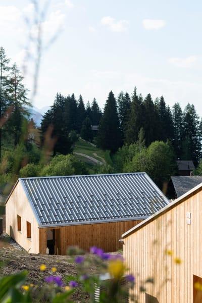 "Für das Öko-Hotel""Whitepod""entwarfMontalba ArchitectsklimaneutraleHolzchalets"