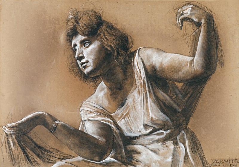 Vincenzo Gemito, Die Marchesa Giulia Albani als tanzende Muse, Signiert und datiert: 'V.GEMITO./Fatto a Roma1920