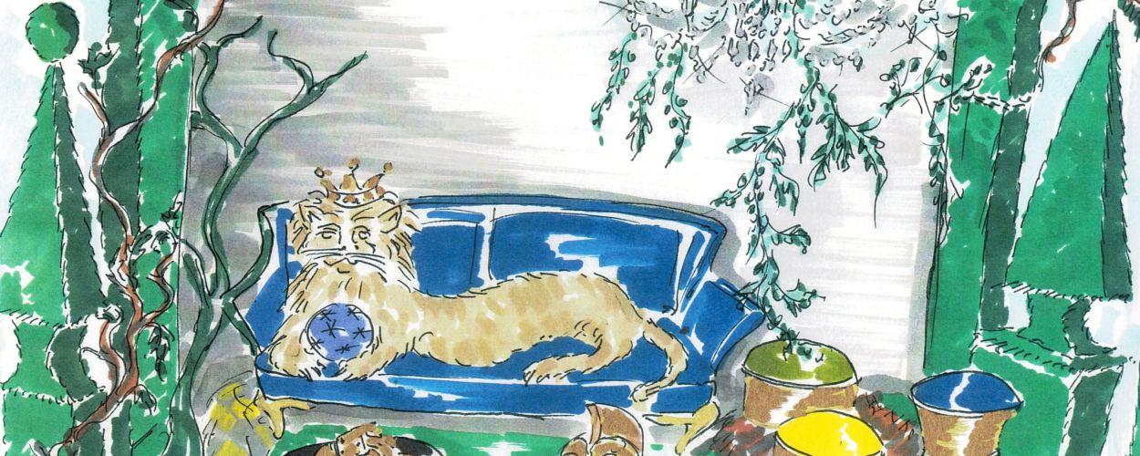 """<p>Narnia? Nein, das sind die Chroniken von Vincent Darré mit Sofa """"Contour"""" von Paul Mathieu, Tischchen """"Tosco"""" von Trussardi Casa und Pouf """"Aida"""" von Fendi Casa.<br></p>"""
