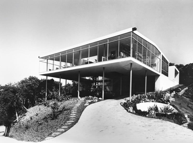 Casa de Vidro, São Paulo, 1949-1951, Außenansicht kurz nach Fertigstellung