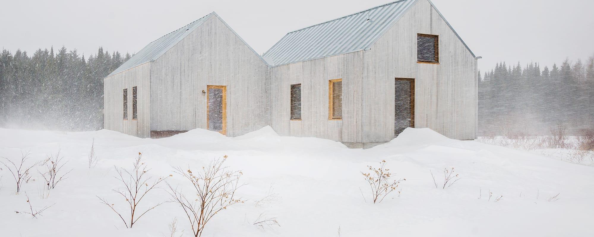 Architektur, Pierre Thibault,  Résidence des Stagiaires, Holz, Haus, Ouebec