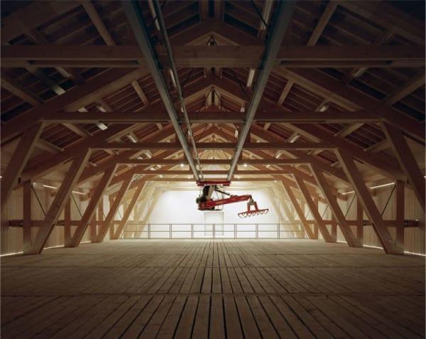 """Das """"Lange Haus"""" während des Umbaus."""