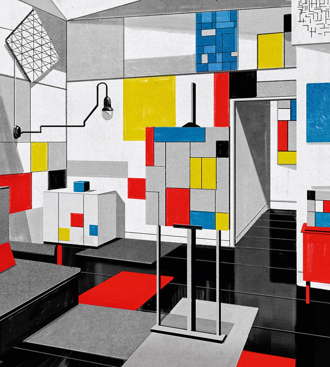 Mondrian, Kunst, Appartement, Atelier
